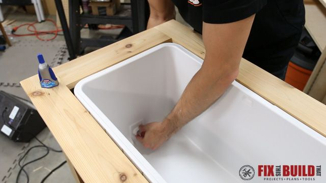 How To Build A Diy Patio Cooler Cart Patio Cooler Patio