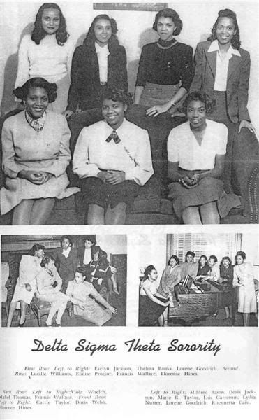 Alpha Gamma Chapter Morgan State College 1948 With Images