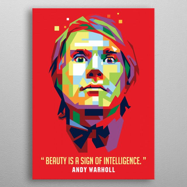 andy warhol by ICAL SAID WPAP | metal posters - Displate | Displate thumbnail