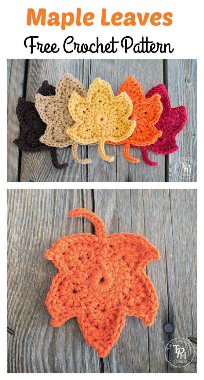 Maple Leaf Crochet Patterns Free Crochet Leaves And Crochet
