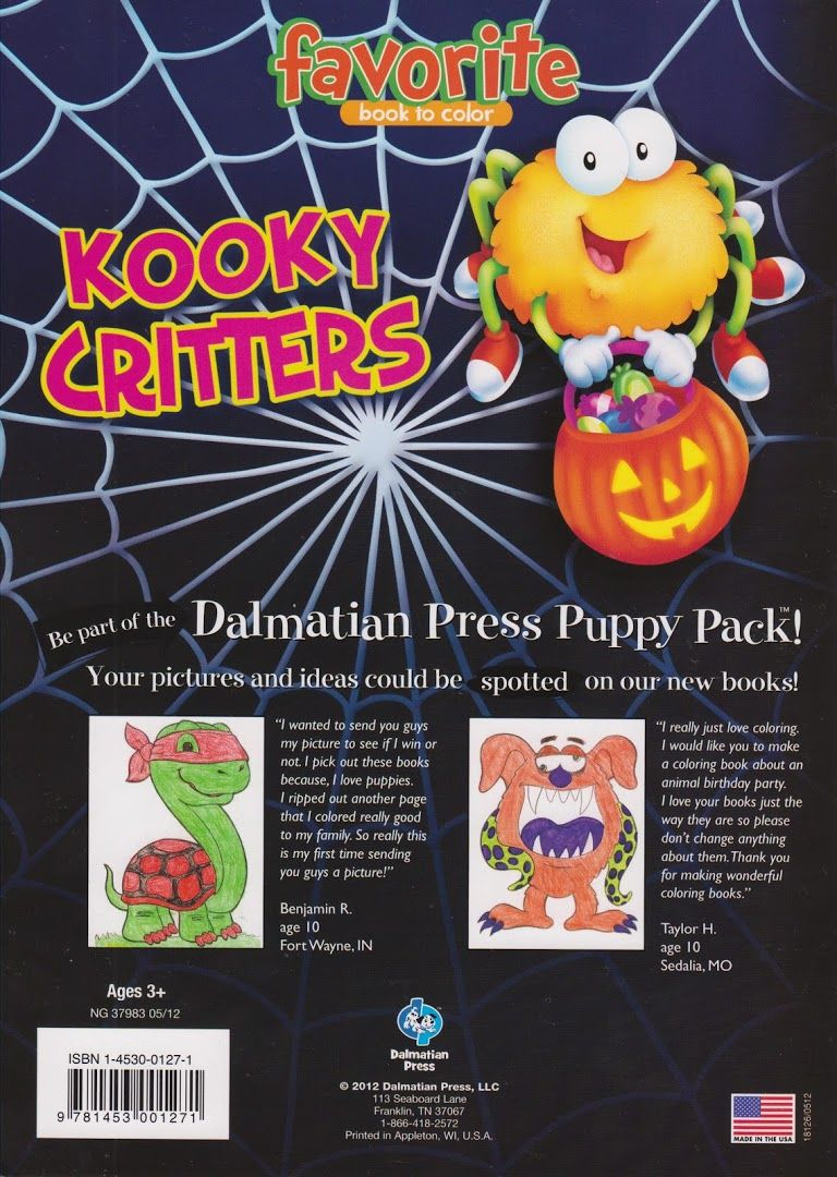 Kooky Critters | Holidays❤Hall☪ween❤Coloring Books ...