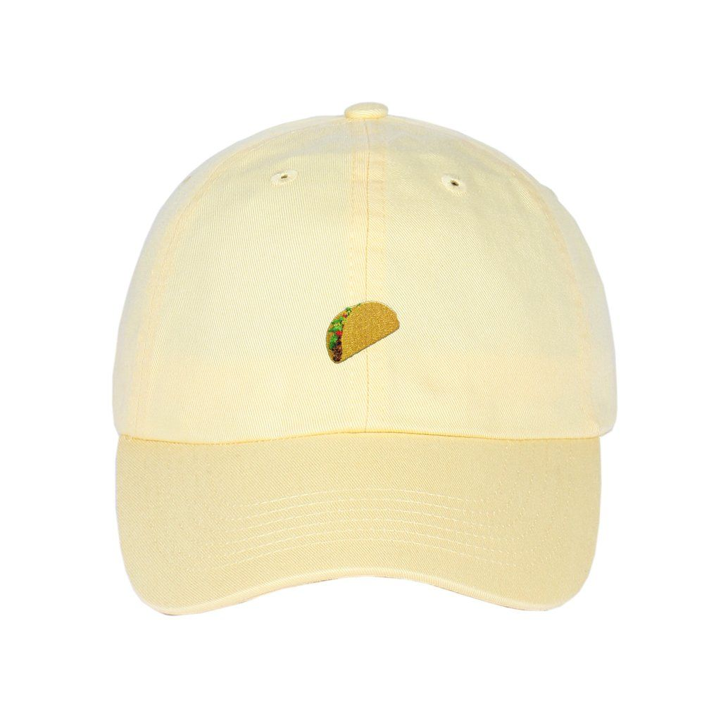 c7c899449ca Taco Emoji Embroidered on Unstructured Dad Hat. Find this Pin and more on  Embroidered Snapbacks Hats ...