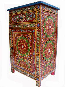 Moroccan Handpainted Night Stand