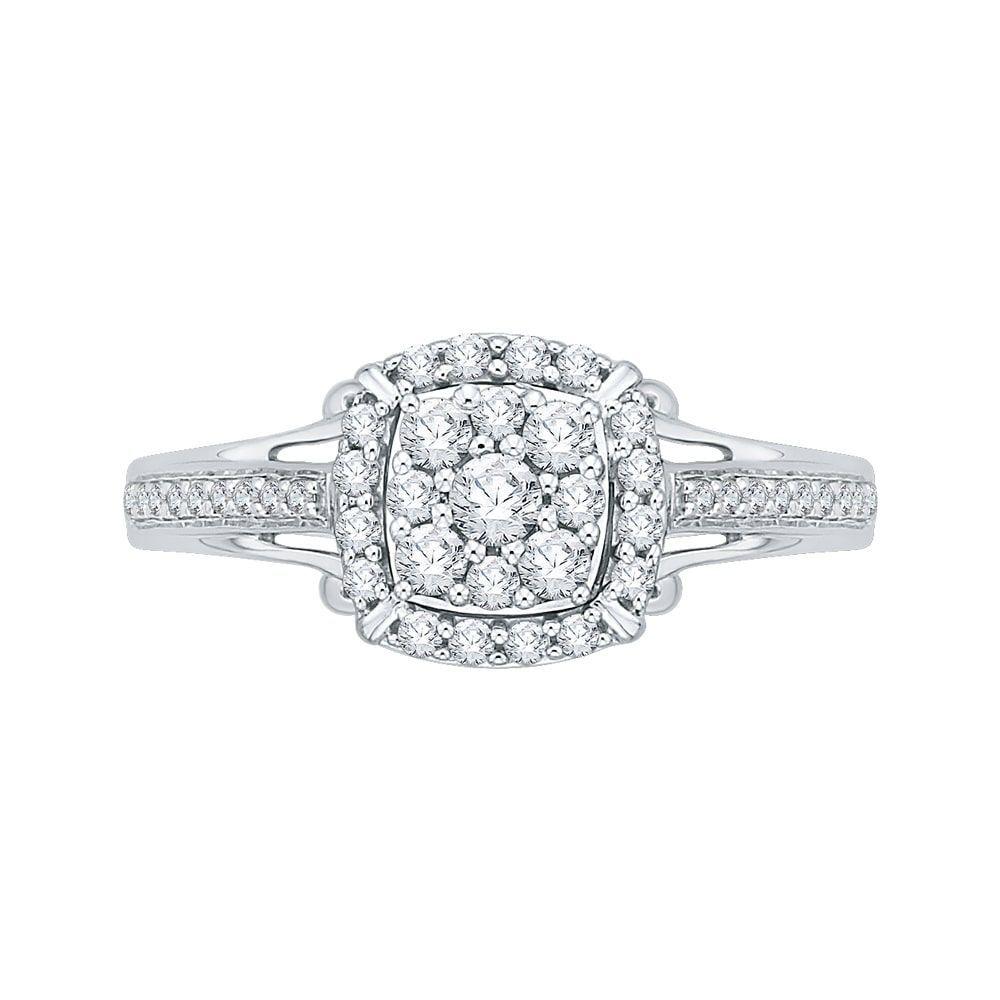 14K Gold 1/2ct TDW Diamond Composite Engagement Ring