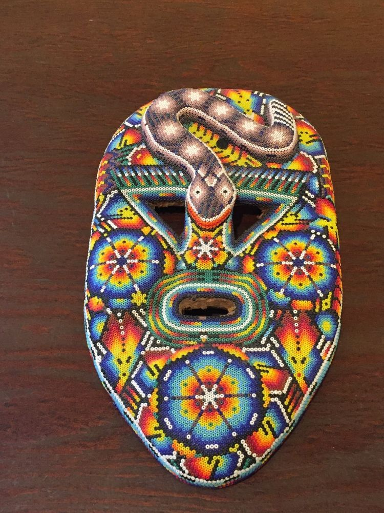 Huichol Beaded Mask Mexican Folk Art (With images