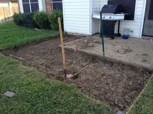 Adding On Concrete Patio With Pavers Landscaping Lawn Care
