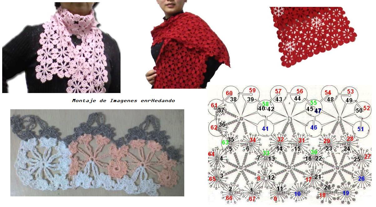 Lujoso Crochet Patrón Bufanda Malla Galería - Ideas de Patrones de ...