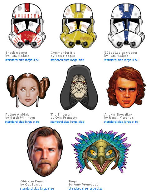 Fashion And Action Instant Star Wars Masquerade Ball Paper Masks Pdfs Star Wars Masks Star Wars Printables Star Wars Diy