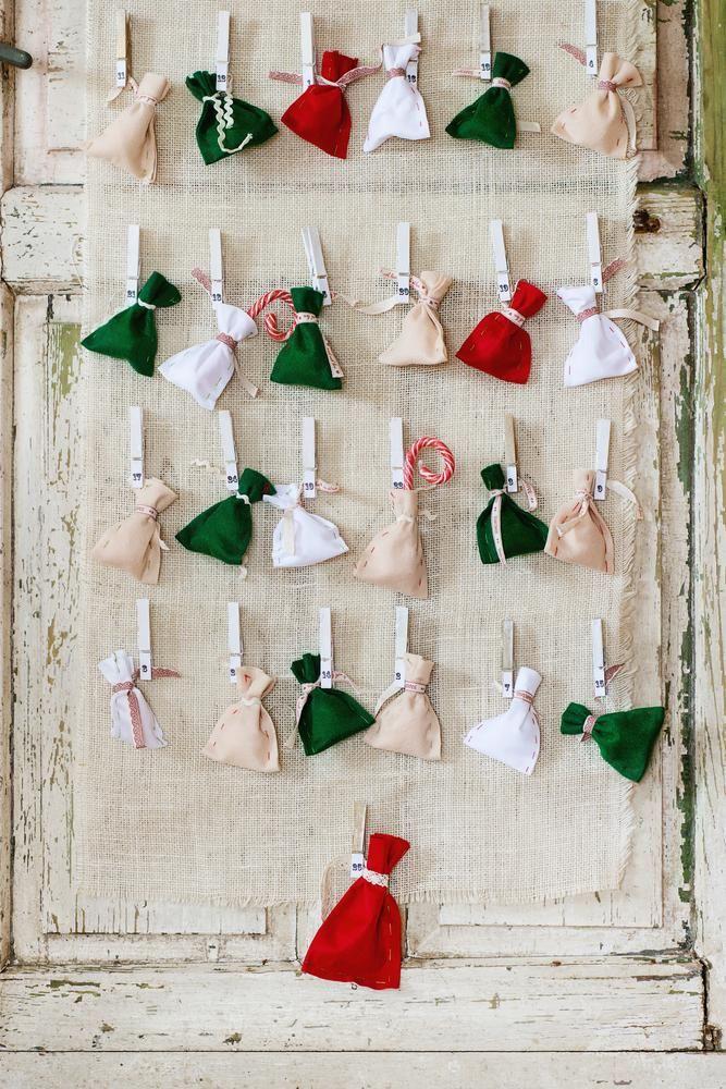 Calendrier de l'avent original : 20 idées sympas et faites maison - M6 Deco.fr #calendrierdelaventfaitmaison