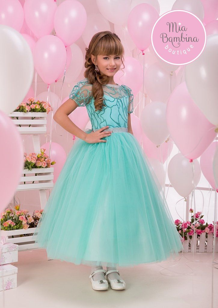 Buy Jade - Birthday Girl Dress | Pageant Dress with Ankle Long Tulle Skirt
