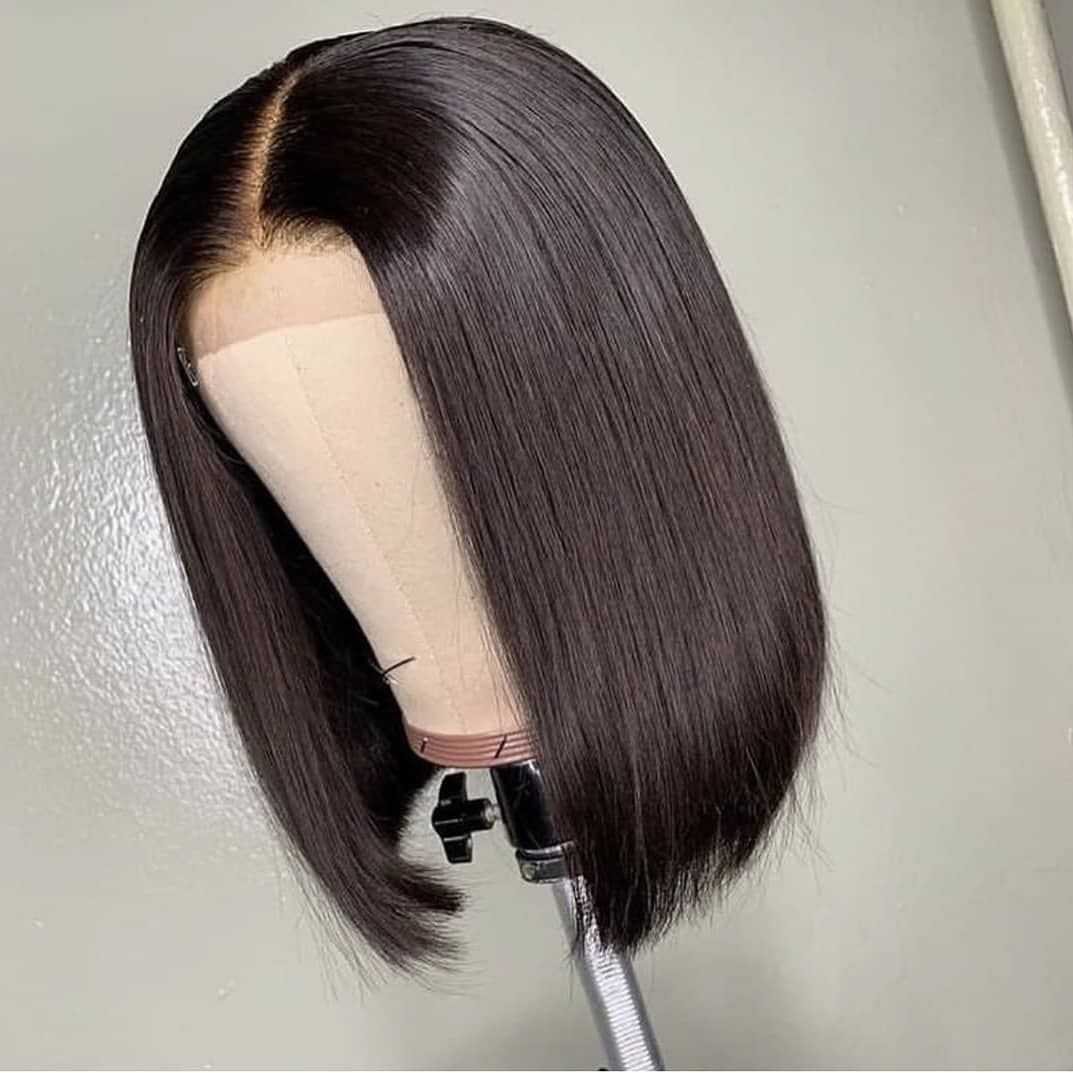 Buy cheap Human Hair Straight Short Bob Lace Front Wigs from Uyasi