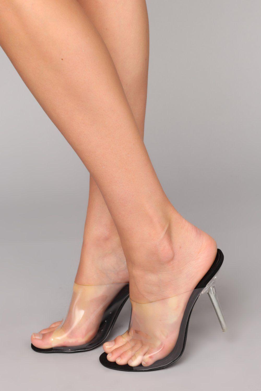 b0203bef7e3 The Glass Slide - Black in 2019   mules   Heels, Stiletto heels ...