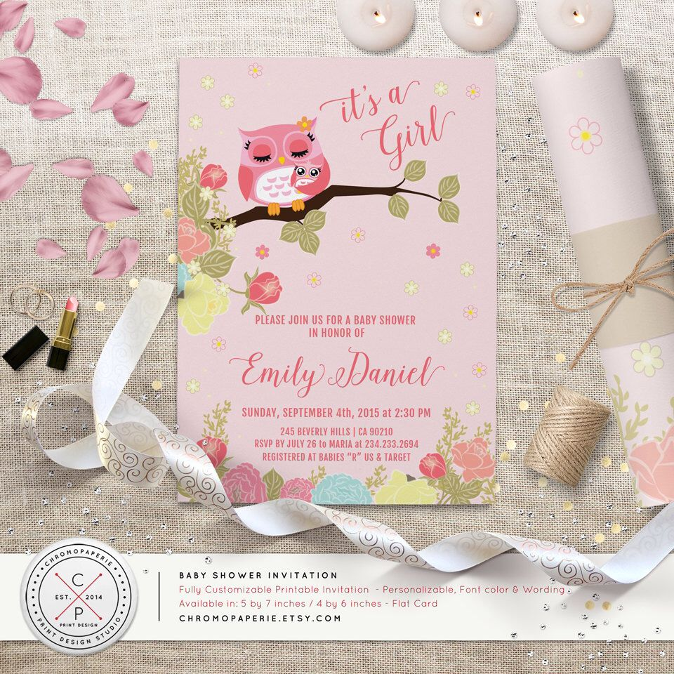 Customizable Baby Shower Invitations And Matching Printable At ChromoPaperie