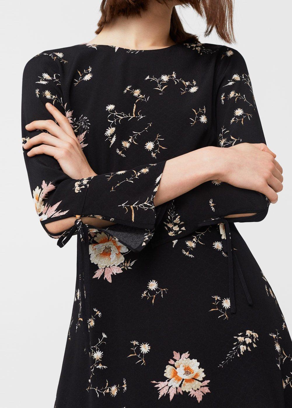 Robe fluide imprimé floral | MANGO