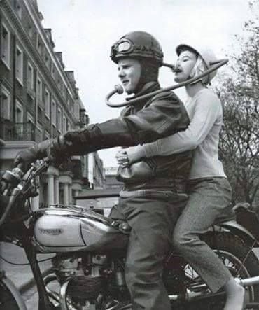 Vintage intercom motorcycle - silly englishman...