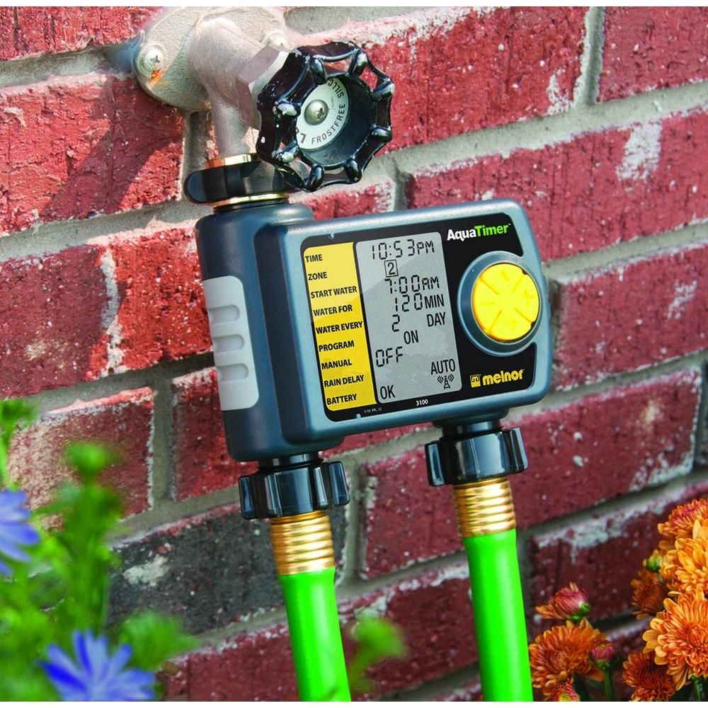 Melnor Automatic 2-Outlet Hose Timer | Outlets, Garden ideas and Gardens