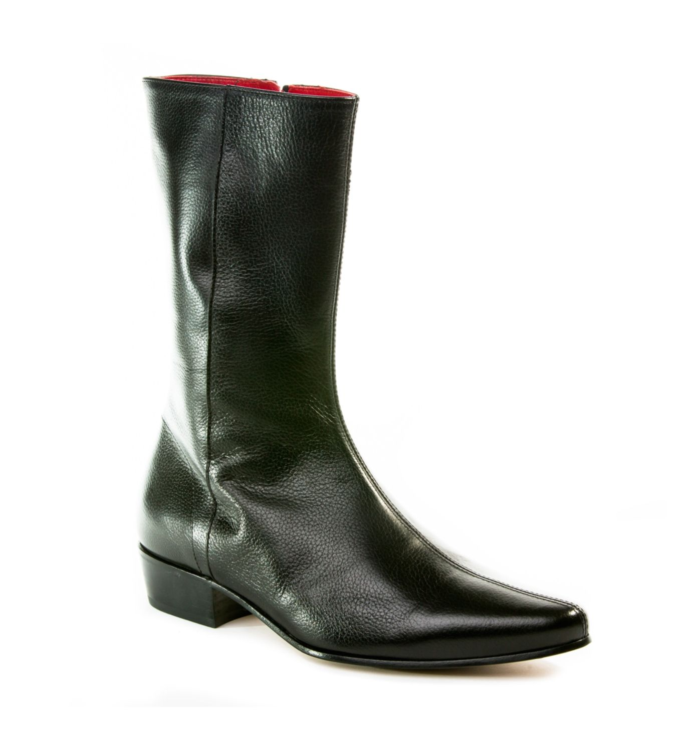 Low Lennon Boot In Black Grain Leather Gothic Shoes And