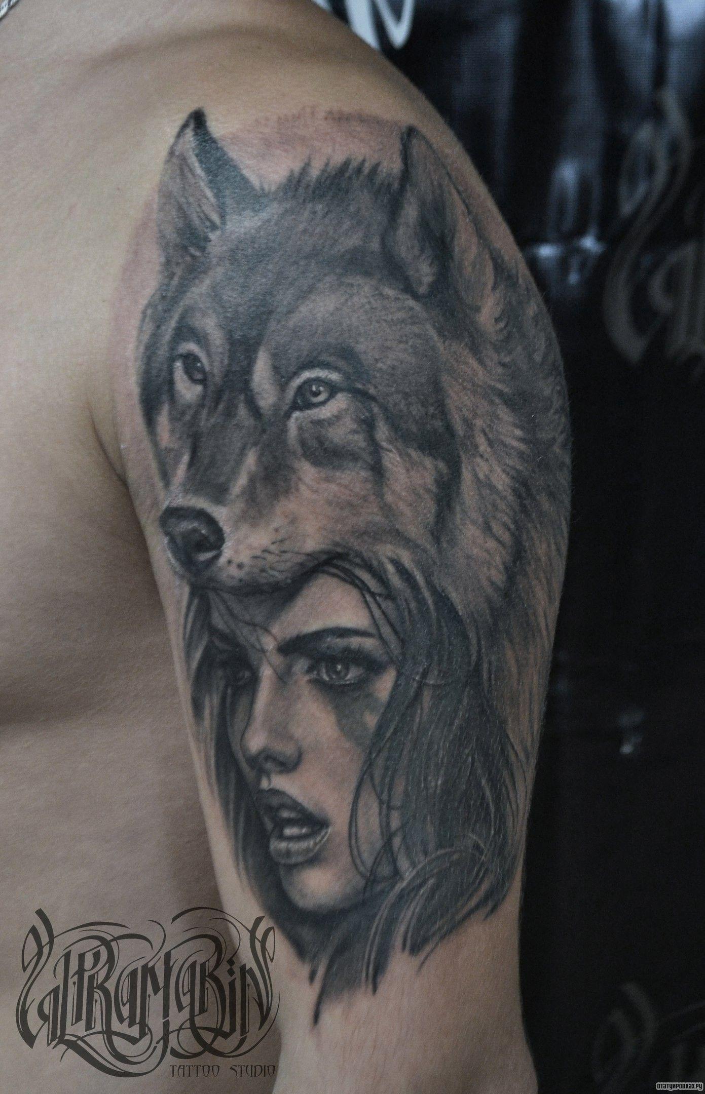 волк с волчатами татуировка на плече: 10 тыс изображений ...