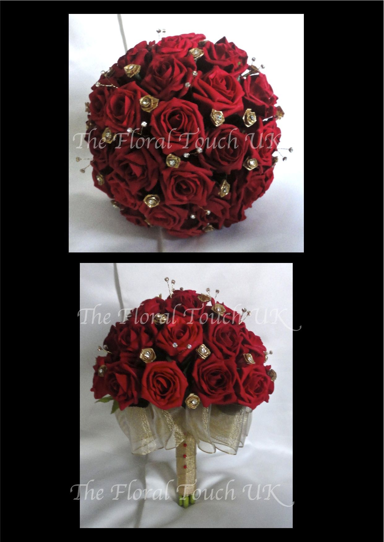 Red And Gold Bouquet Perfect For My Wedding Color Scheme