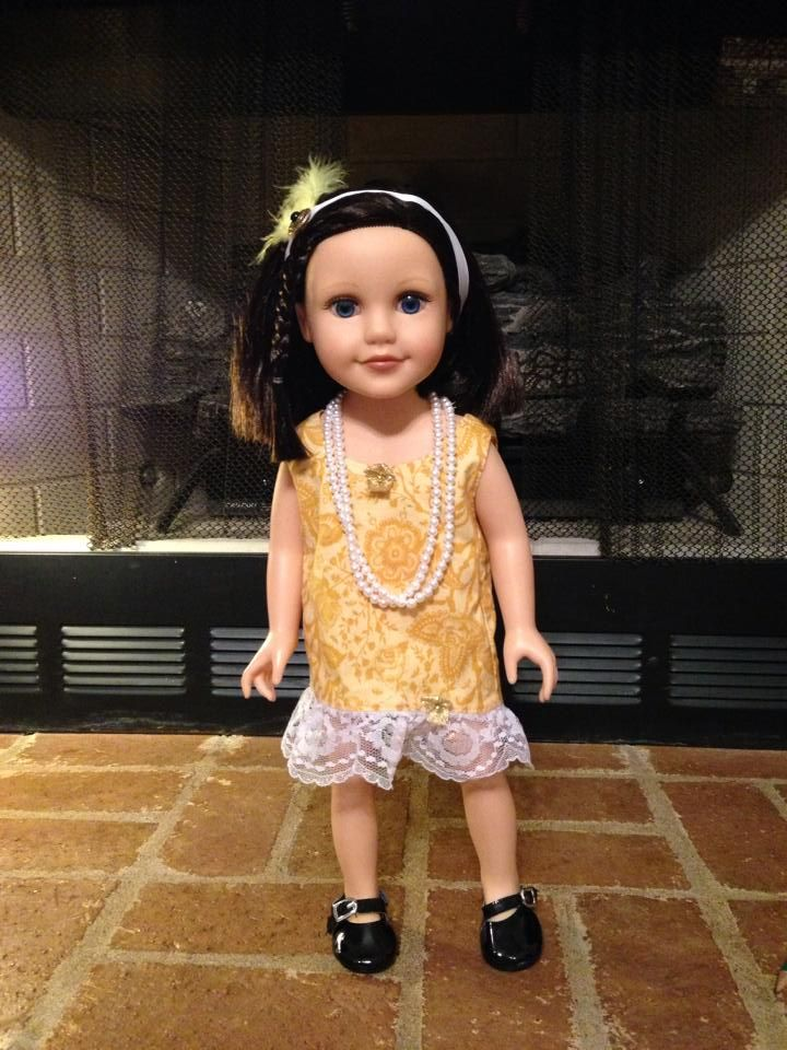 Yellow doll from a dress I donated to The Broken Doll. https://www.facebook.com/4TheBrokenDoll?fref=photo