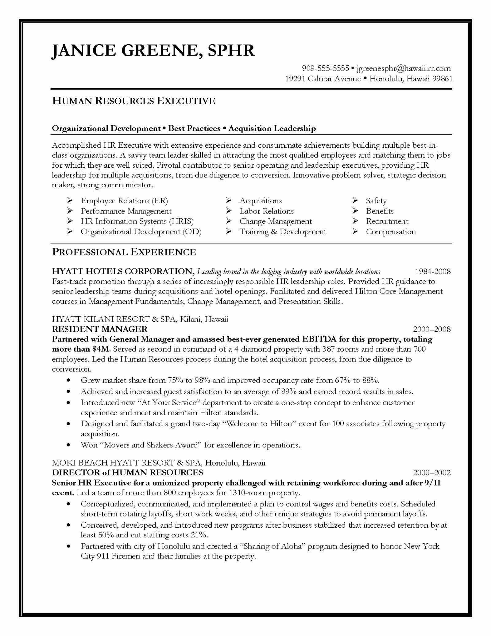Free resume templates executive resume objective