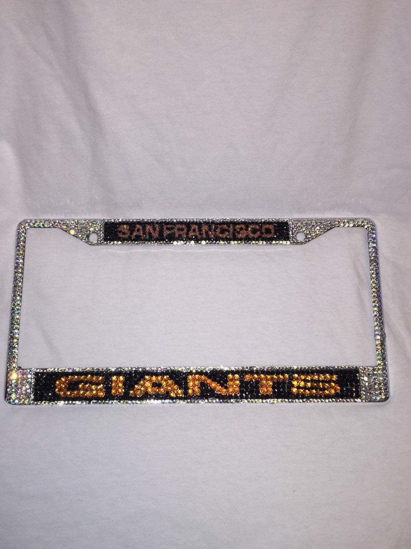 Sf Giants Bling License Plate Frame Bling License Plate Frames