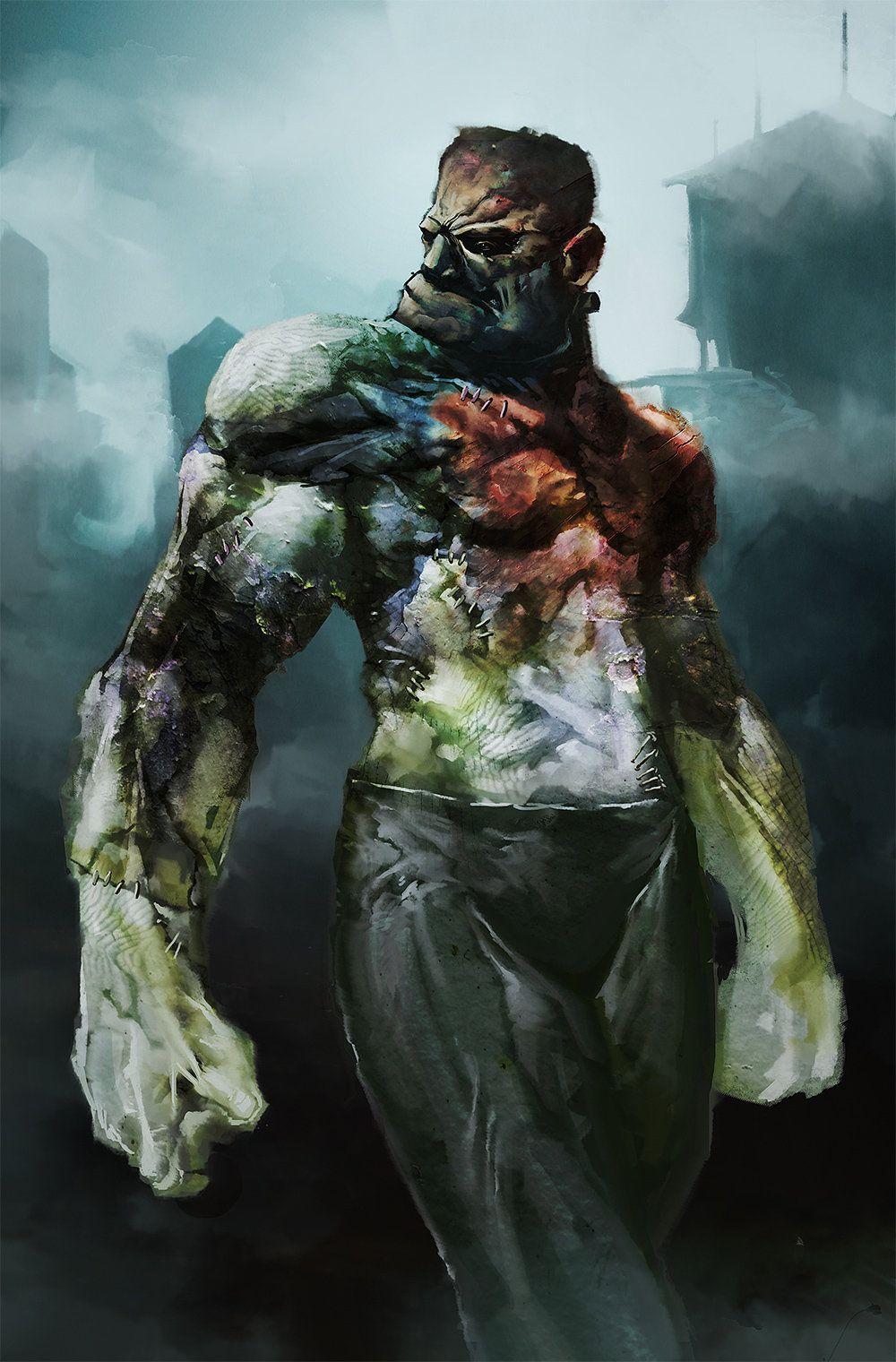 Frankensteins monster aaron nakahara on artstation at