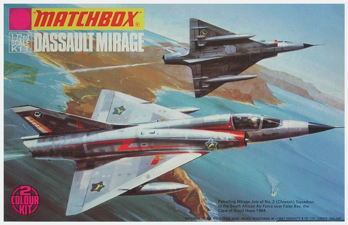 Matchbox-Dassault-Mirage - Roy Huxley | Model kits box art