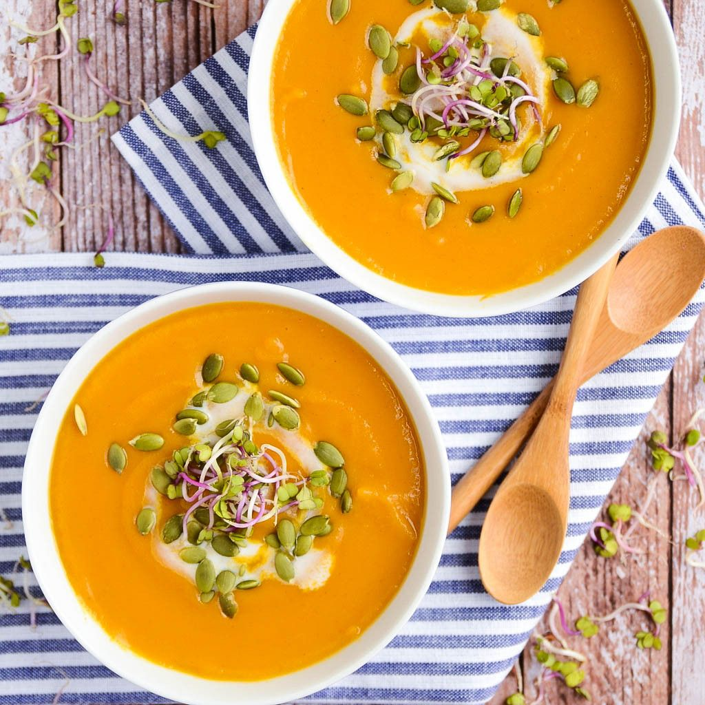 Butternut Squash & Sweet Potato Soup | vegan, gluten-free