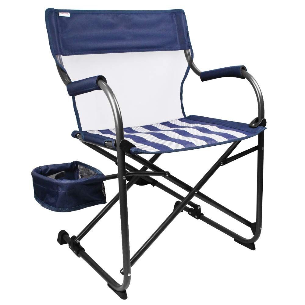 Zenree Camping Folding Chair Heavy Duty New Age Portable Director S Chairs Outdoor With Little Motion Breathable In 2020 Outdoor Chairs Folding Chair Directors Chair