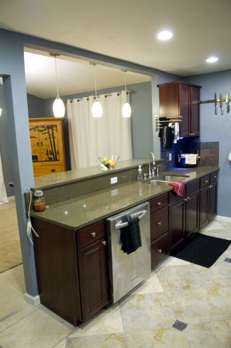 Galley Kitchen Remodels Remodel I Had A Really Small And Gutted The