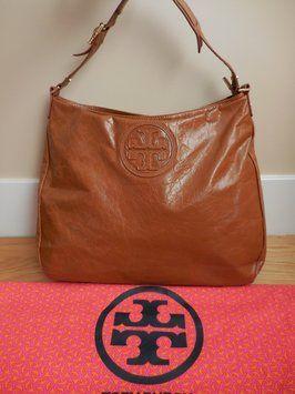 Tory Burch  495 Large Robinson Tan Glazed Crackled Leather Handbag With  Dustbag Hobo Bag. Hobo bags are hot this season! The Tory Burch  495 Large  Robinson ... 640c2cbece