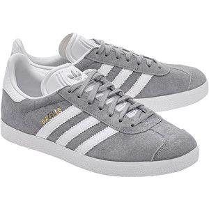 ADIDAS ORIGINALS Gazelle Mid Grey // Flat suede sneakers