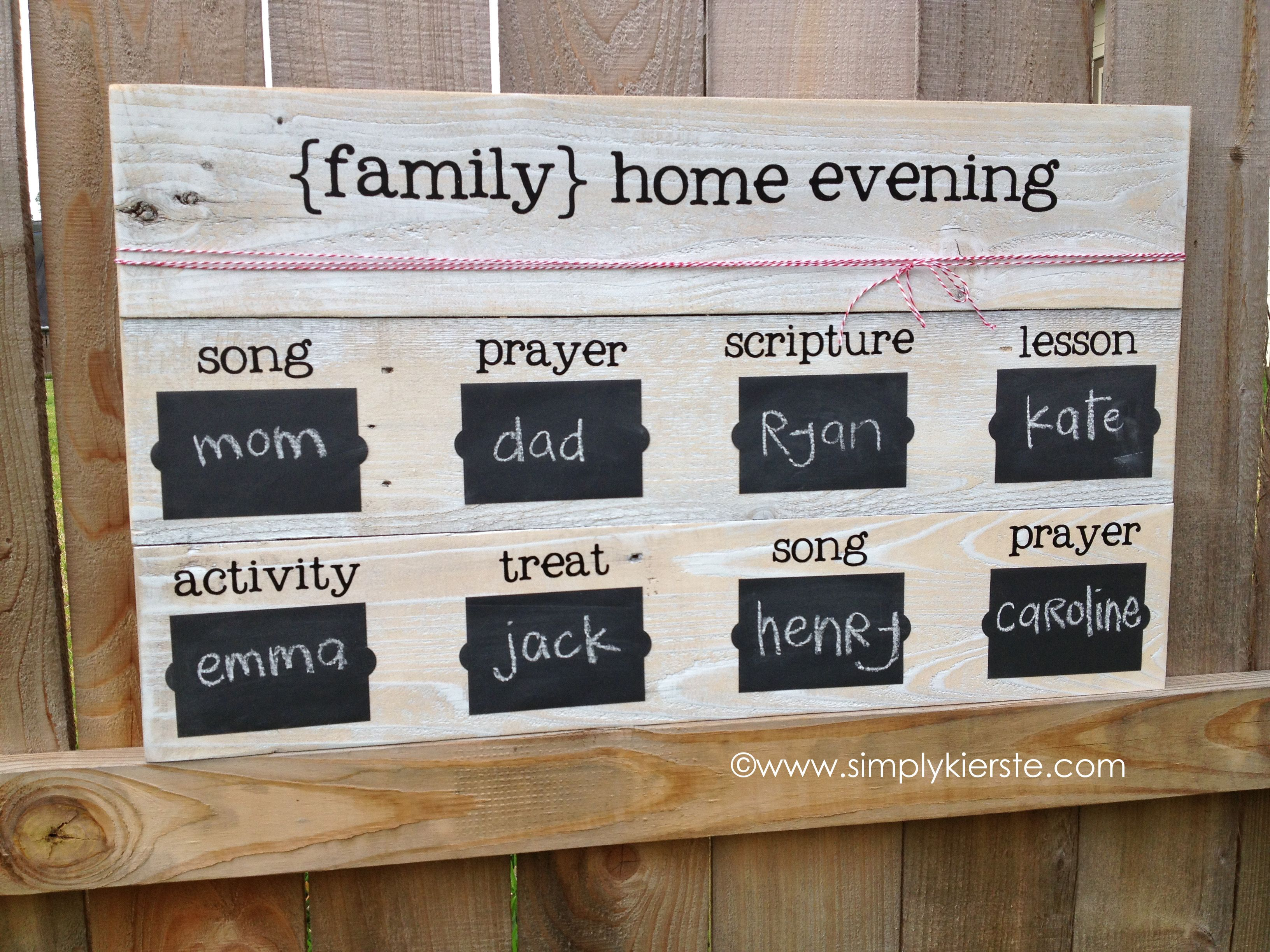 Family Night Wooden Chalkboard | Chalkboards, Board and Churches
