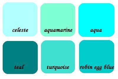 Shades of cyan - Wikipedia  |Aqua Green Color Paint