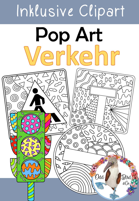 Verkehrserziehung Pop Art Ausmalbilder Facherubergreifend Unterrichten Unterrichtsmaterial Im Fach Sachunterricht Verkehrserziehung Unterrichten Pop Art