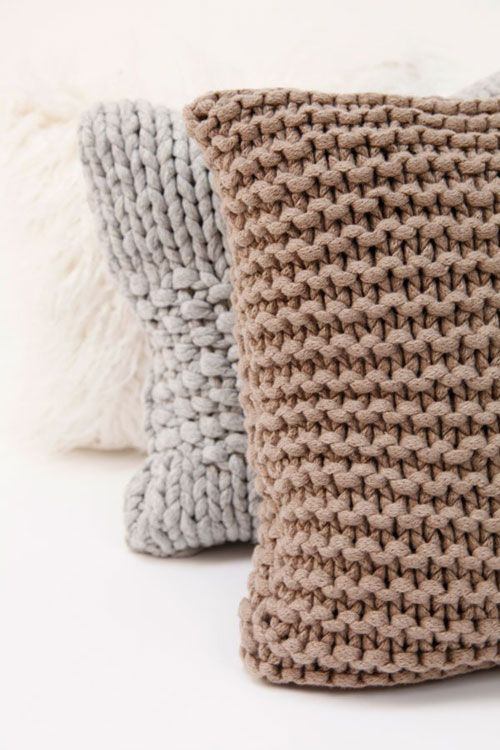 The Style Files Loves Pretty Neutrals Knitted Cushions Crochet