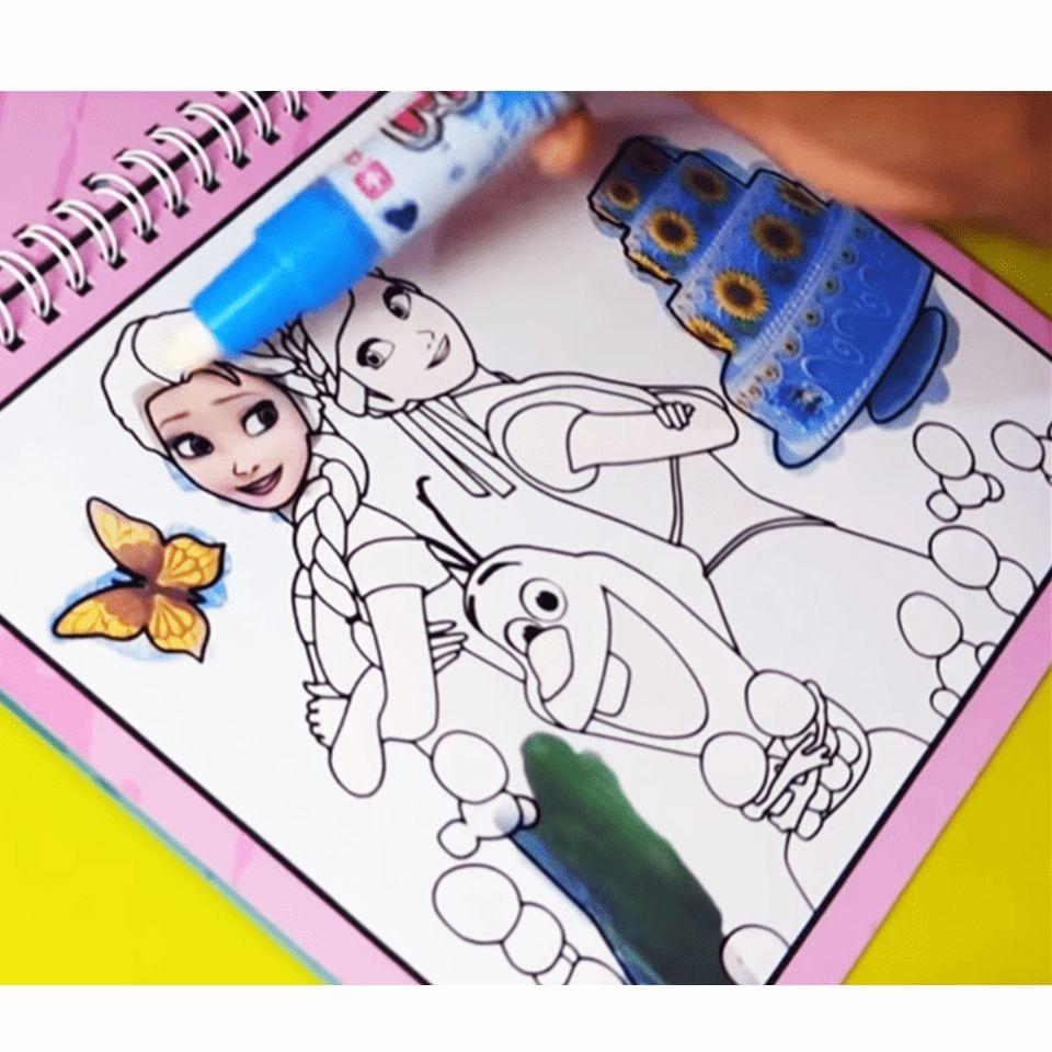 New Magic Kids Water Drawing Book 1 Magic Pen Children Intimate Coloring Book Water Animals Painti Kids Coloring Books Coloring Books Animal Coloring Books