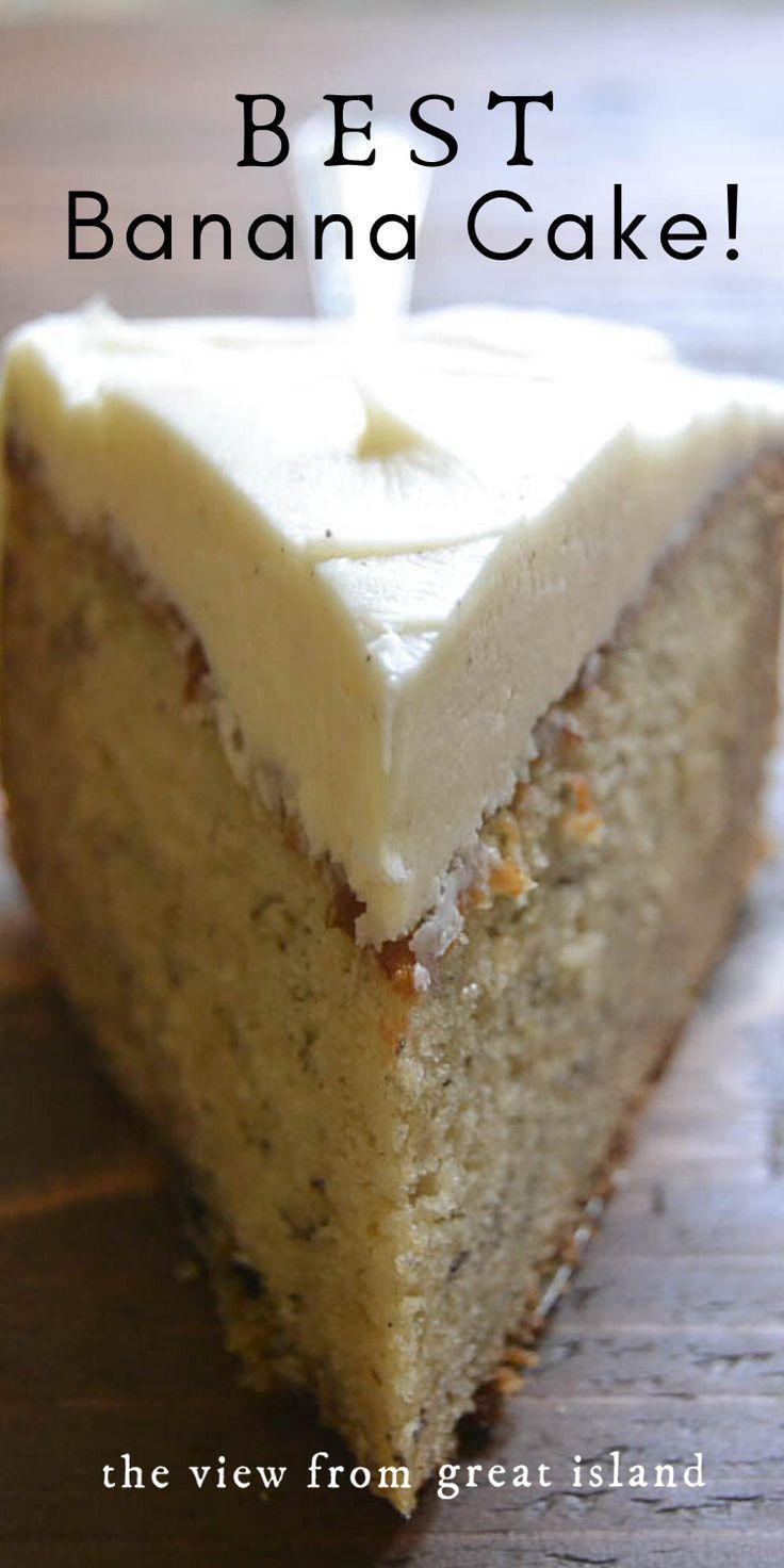Photo of Banana Cake with Vanilla Buttercream
