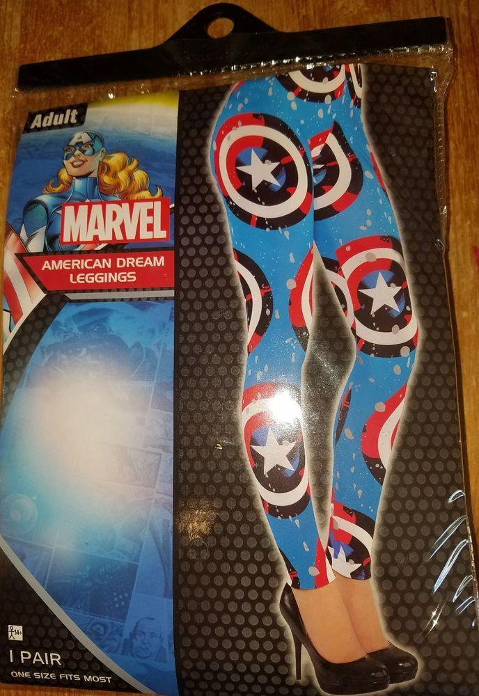 Marvel AMERICAN DREAM Adult Leggings One Size Fits Most O/S NEW #MARVEL #LEGGINGS