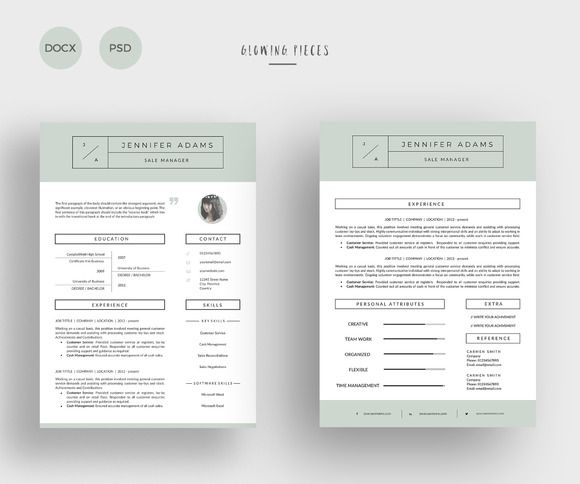 2 Page Resume  Cover Letter Resume cover letters, Resume and