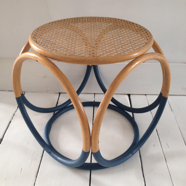 Rattan Round Coffee Table Uk: Vintage Mid Century Modern, Thonet Style Cane Bentwood