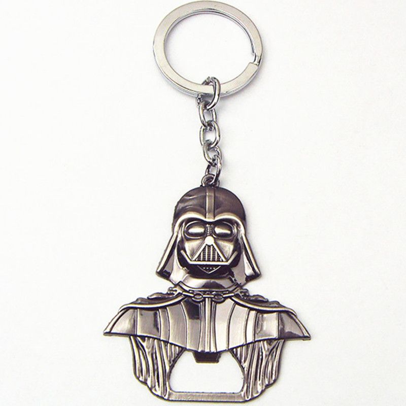 Nuevo Estilo de Star Wars Darth Vader Llavero Abrebotellas Llavero de Aleación Porte Clef Metal Figura Series Negro Anillo de la Cadena Dominante para el Ventilador