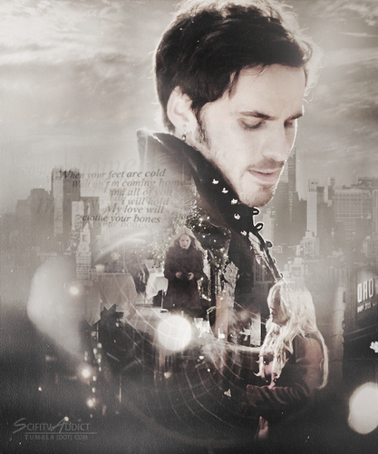 Fan Art of Emma and Hook for fans of Once Upon A Time.