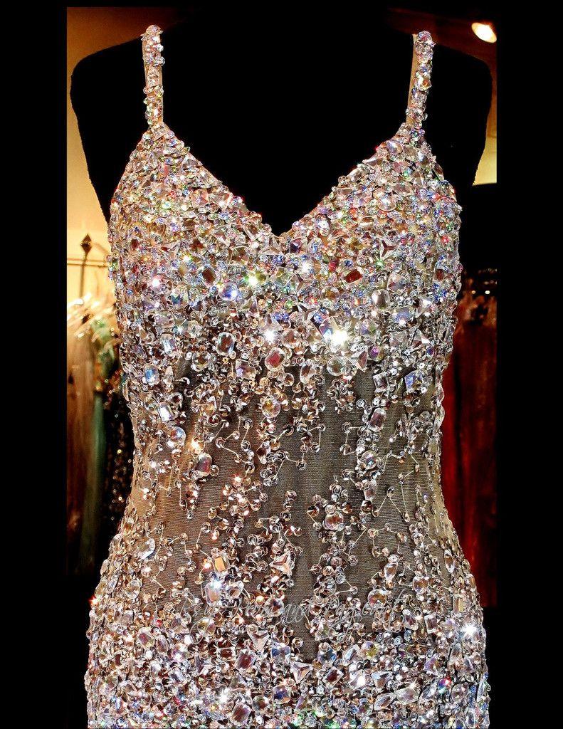 Nude Beaded Mermaid Prom Dress-Sweetheart Neckline-Open Back ...
