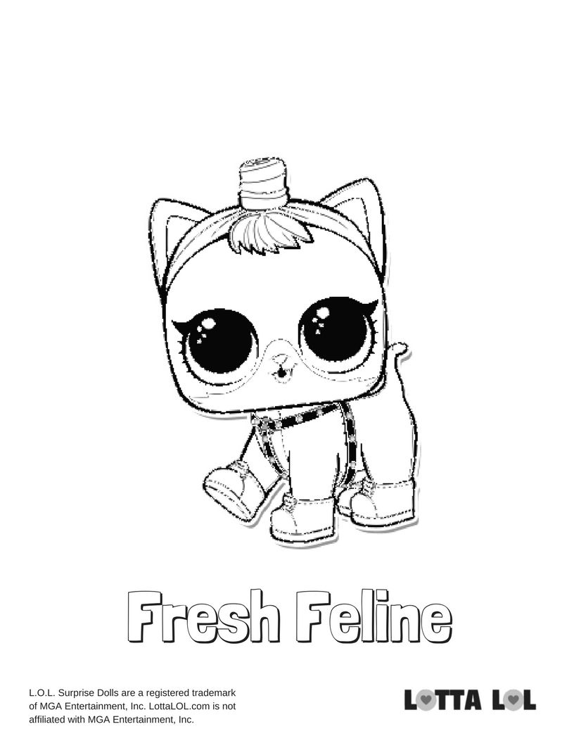 Fresh Feline Coloring Page Lotta Lol Coloring Pages Lol Dolls