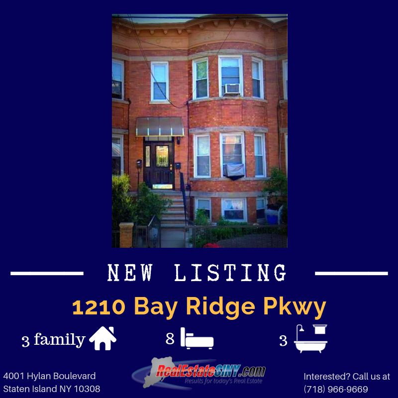 Just Listed By Our Agent Anthony Stallone 1210 Bay Ridge Parkway Located In The Dyker Heights Neighborhood Custom Cabinetry Updated Kitchen The Neighbourhood