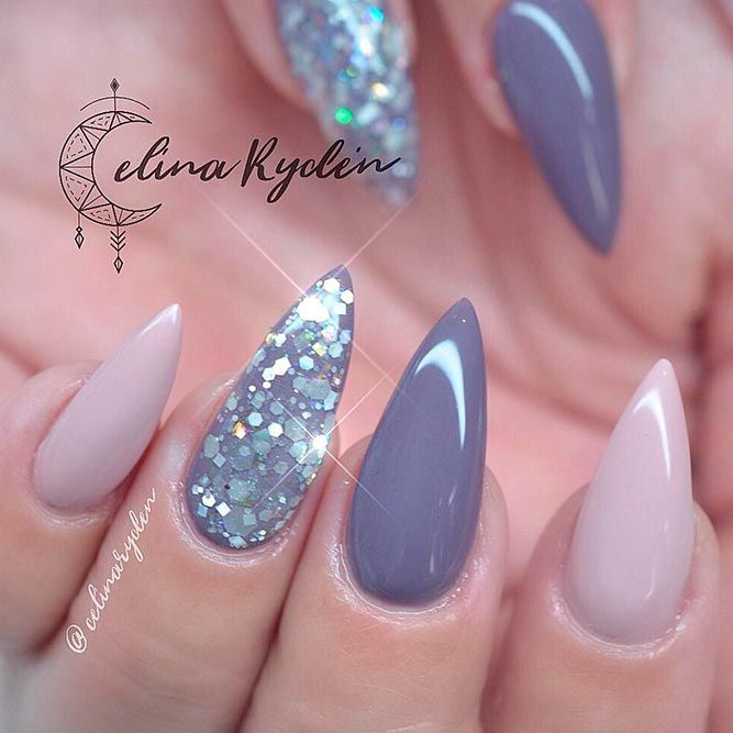 I like color combo not shape - Best Stiletto Nails Designs, Ideas, Tips, For You Stiletto Nails