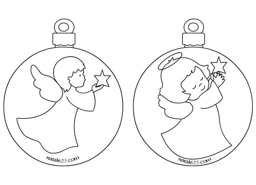 Palline di natale con angeli per addobbi aula navidad for Addobbi aula natale