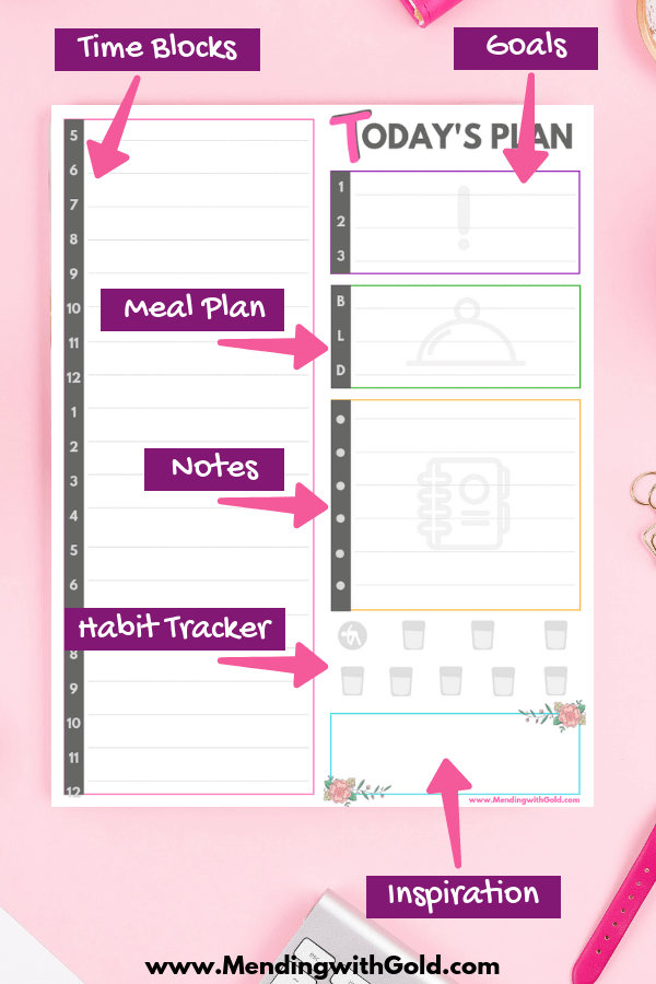 printable daily schedule for stay at home moms free planner